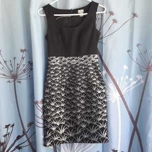 Black and silver party dress H&M